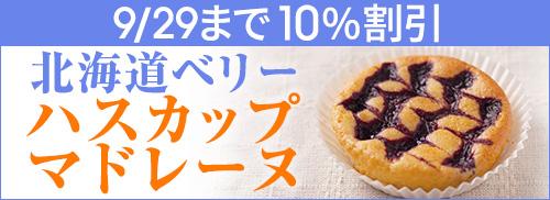 北海道ベリー ハスカップマドレーヌ 期間限定10%割引キャンペーン