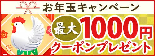 ご愛顧感謝!お年玉キャンペーン!最大1000円割引クーポンを会員様全員にプレゼント