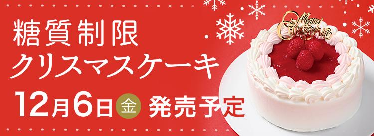 糖質制限クリスマスケーキ【12/6発売】ラズベリーのクリスマスチーズケーキ 4号